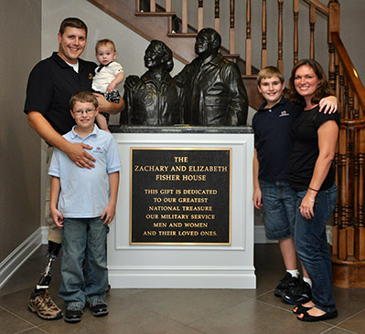 Each Fisher House is dedicated to our military families.